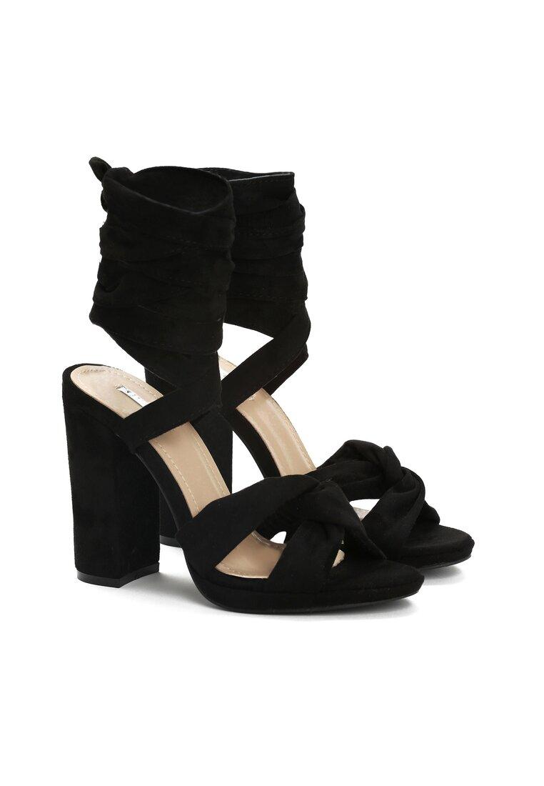 Czarne Sandały Dancing Queen