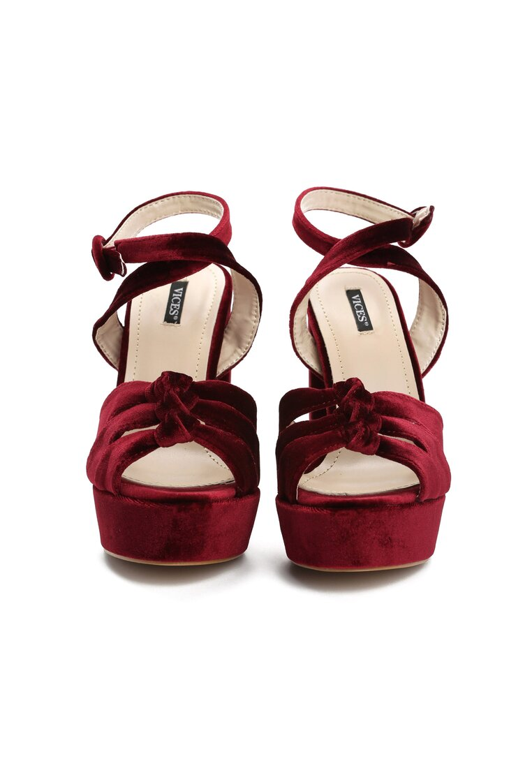 Bordowe Sandały Talk To