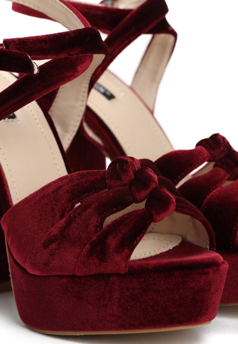 Bordowe Sandały Destiny
