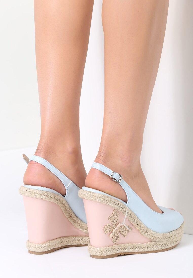 Niebieskie Sandały Butterfly