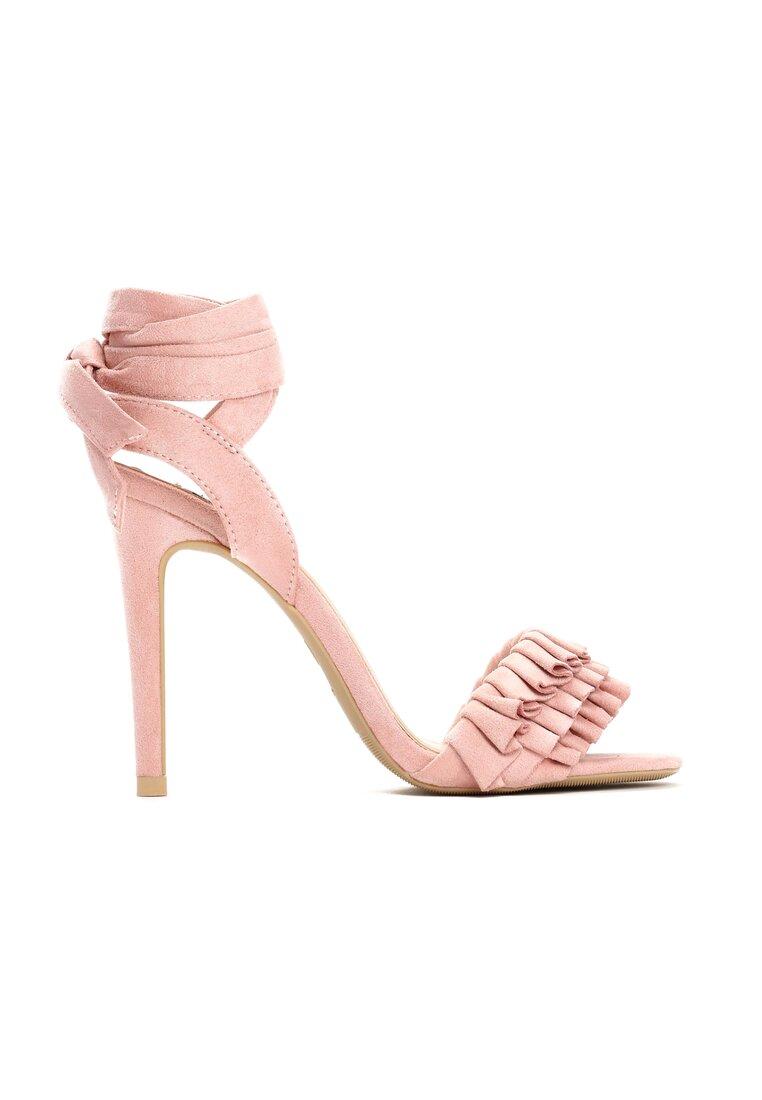 Różowe Sandały Blussy