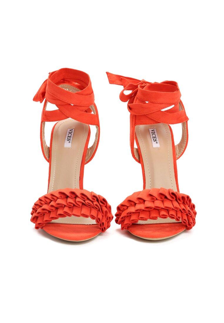 Pomarańczowe Sandały Enthusiasm