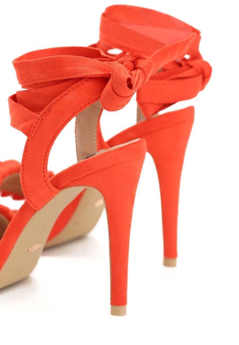 Pomarańczowe Sandały Blussy
