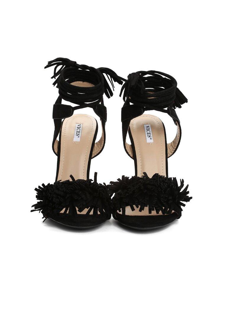Czarne Sandały Frensi