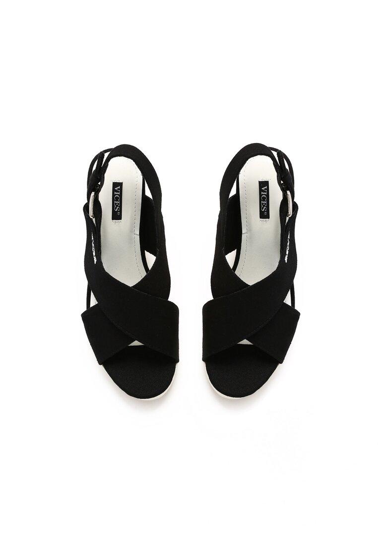 Czarne Sandały Mik