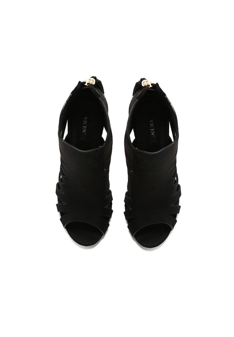 Czarne Sandały Praza
