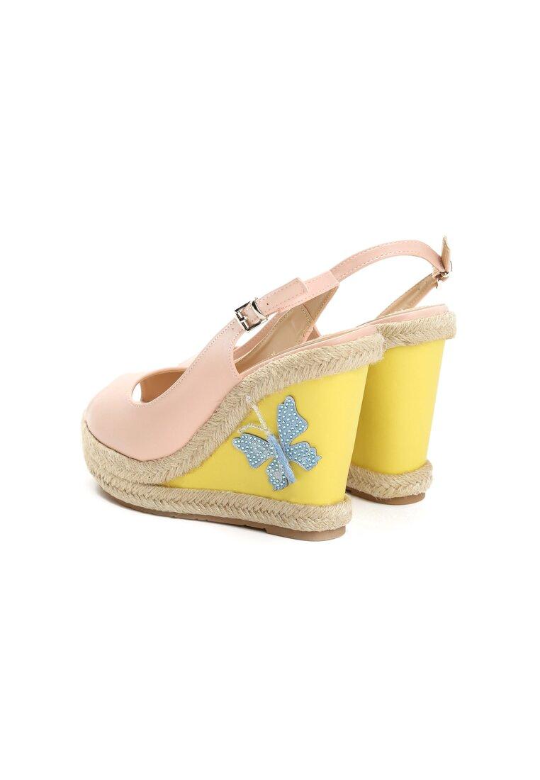 Różowe Sandały Butterfly