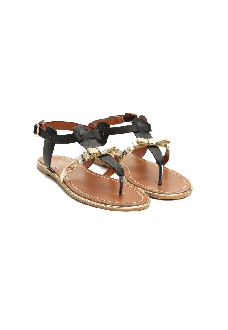 Czarne Sandały Fancy