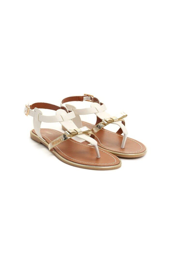 Białe Sandały Fancy