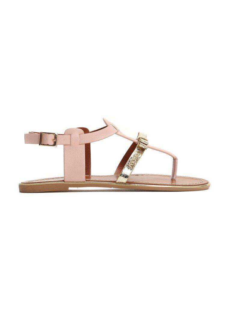 Różowe Sandały Fancy