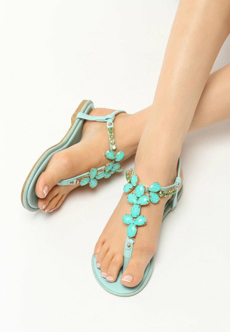 Miętowe Sandały Gemstones
