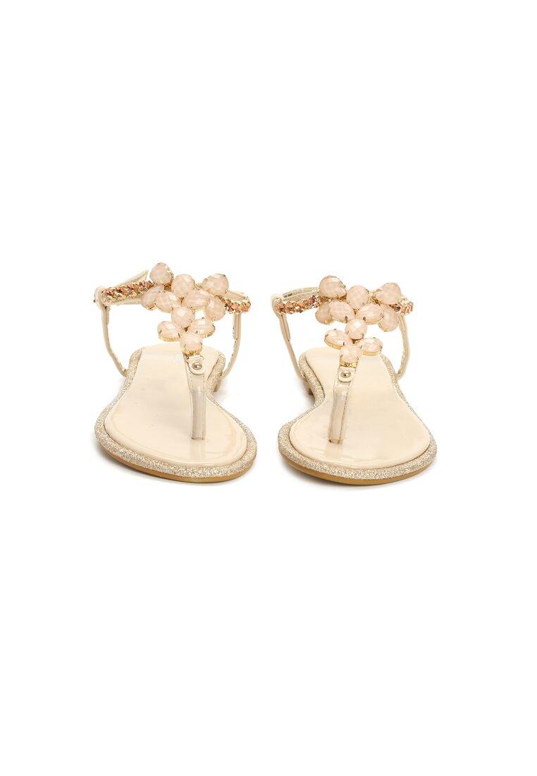 Beżowe Sandały Gemstones