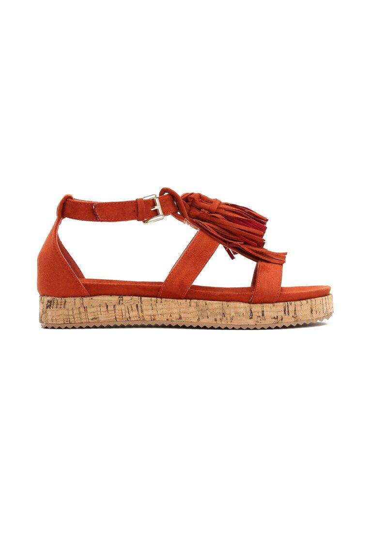 Pomarańczowe Sandały Slender Thing