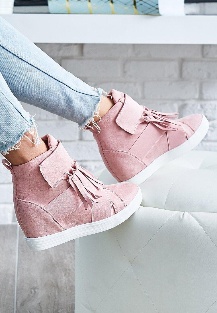 Różowe Sneakersy Merni
