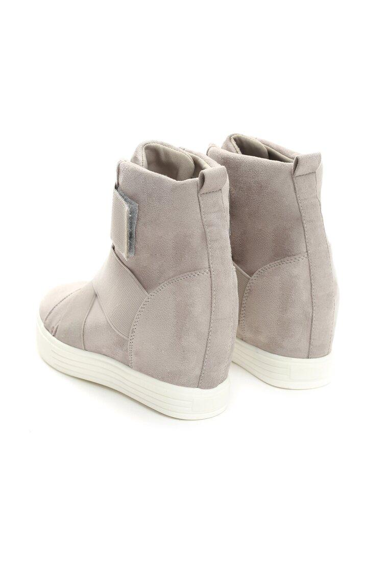 Szare Sneakersy Merni