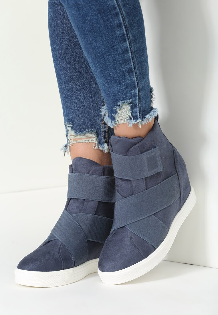 Granatowe Sneakersy Scarlett