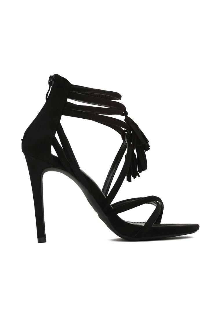 Czarne Sandały By Heart