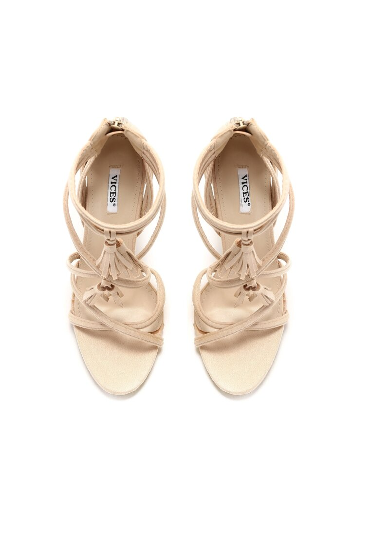Beżowe Sandały By Heart