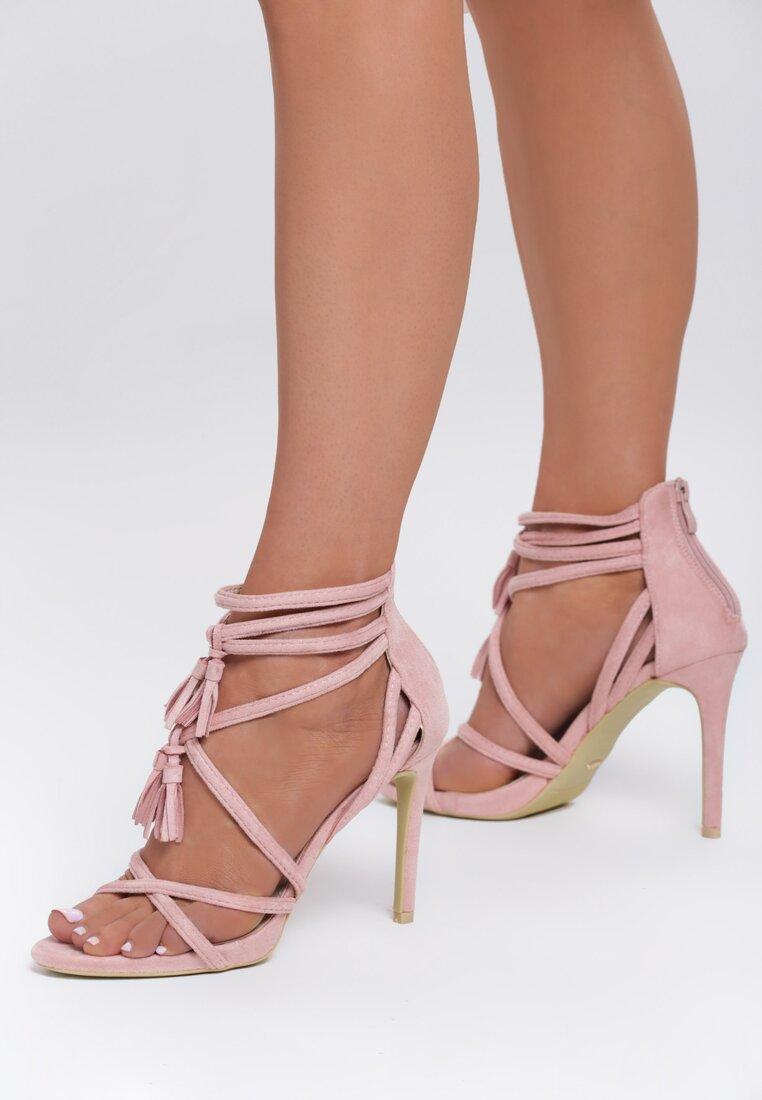 Różowe Sandały Wiren