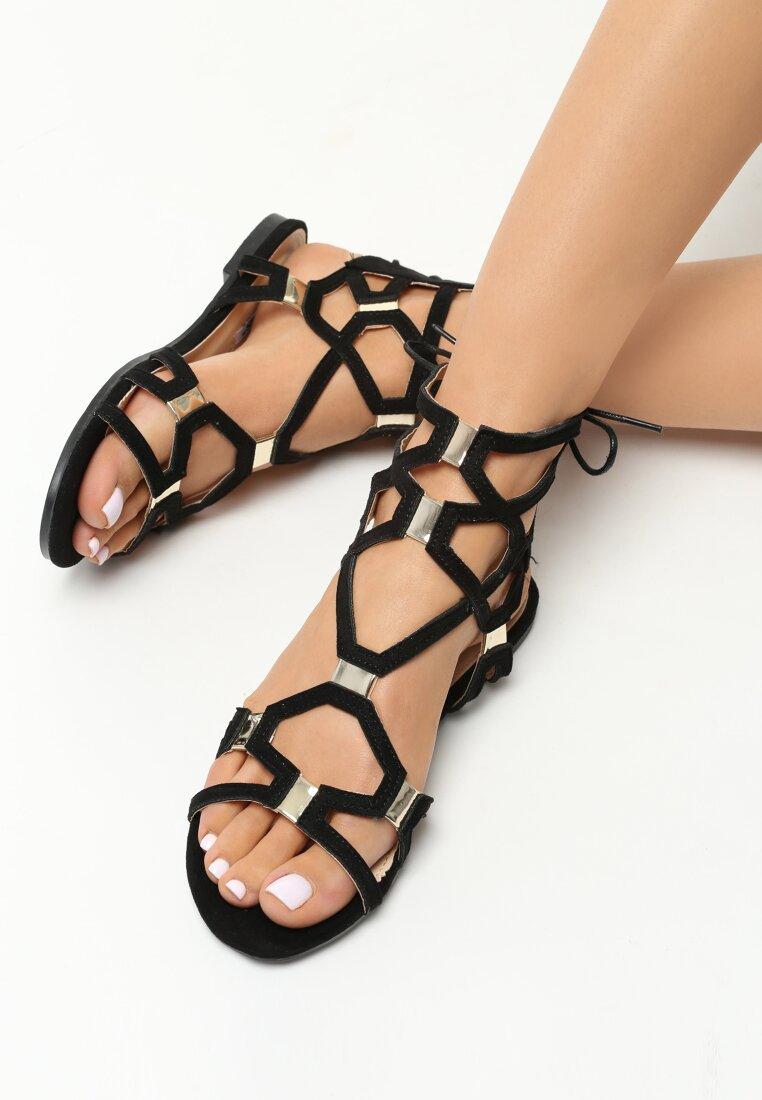 Czarne Sandały Come Across