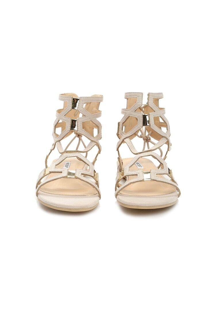 Beżowe Sandały Happy Day