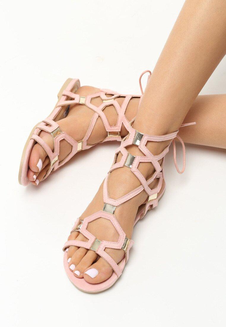 Różowe Sandały Happy Day