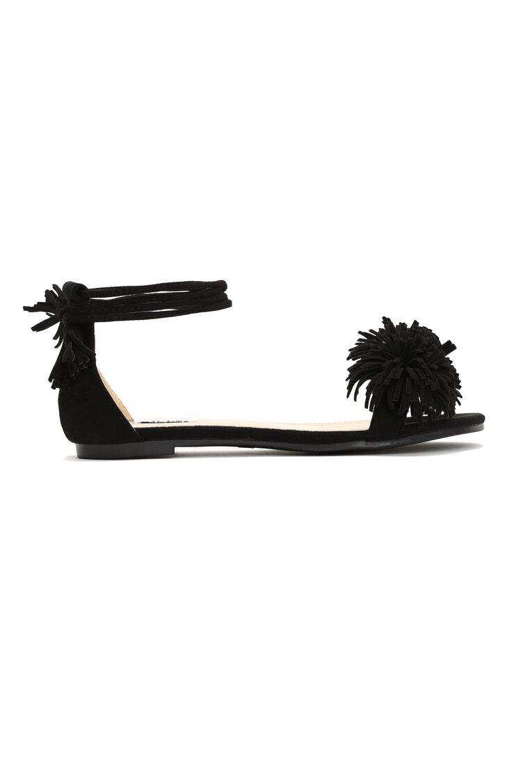 Czarne Sandały Kamilla