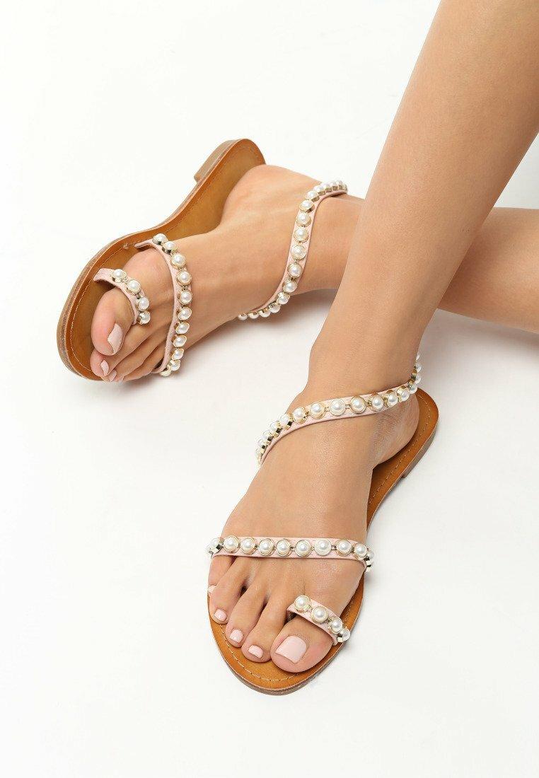 Różowe Sandały Baroque