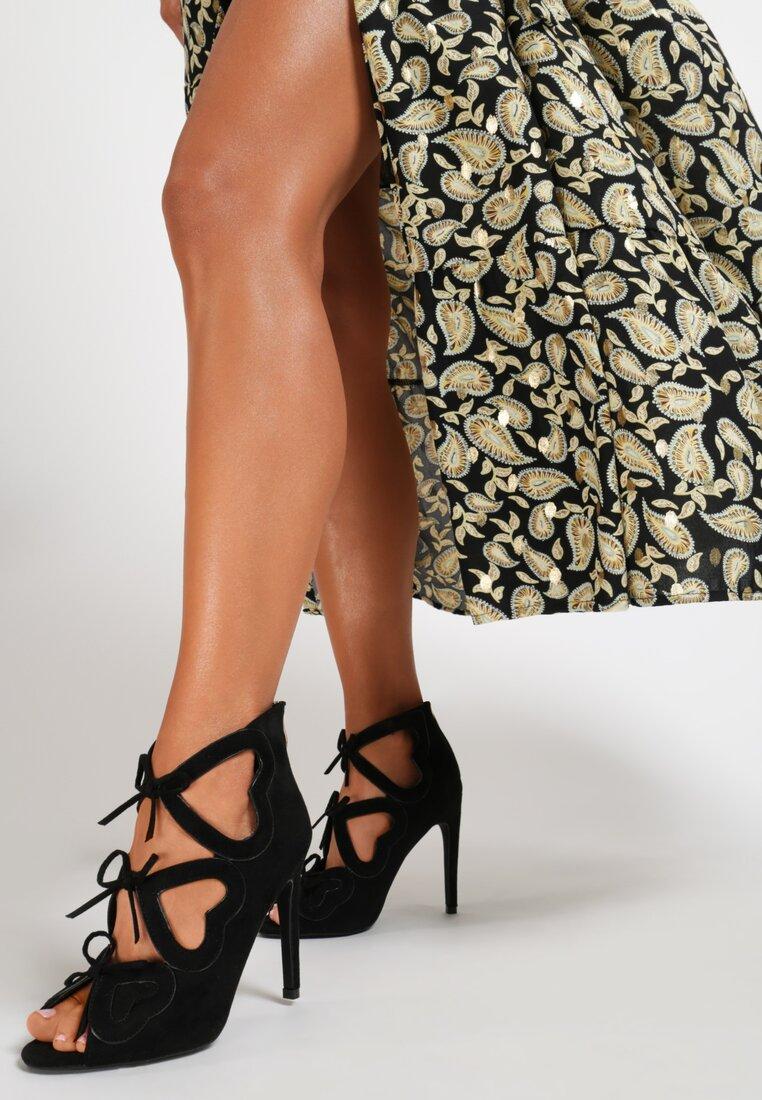 Czarne Sandały Shifty Sneak