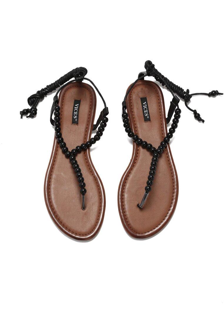 Czarne Sandały All In Fashion