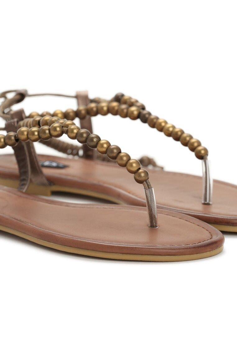 Khaki Sandały Elaborate