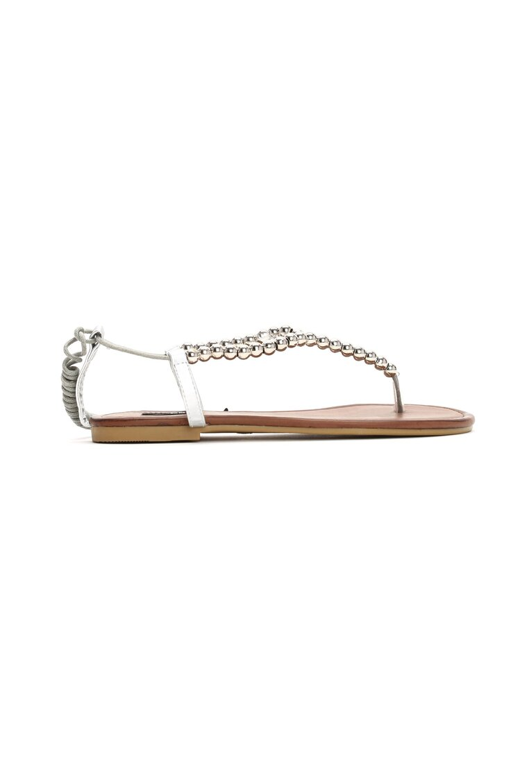 Srebrne Sandały All In Fashion
