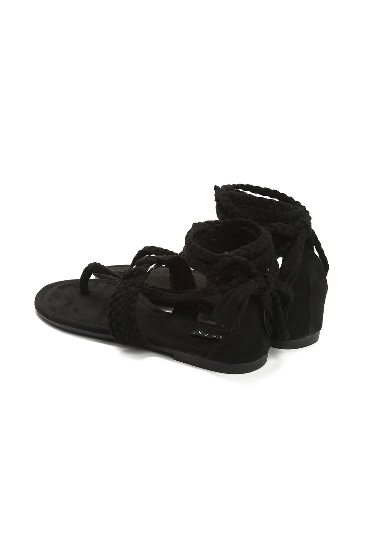 Czarne Sandały King Lace