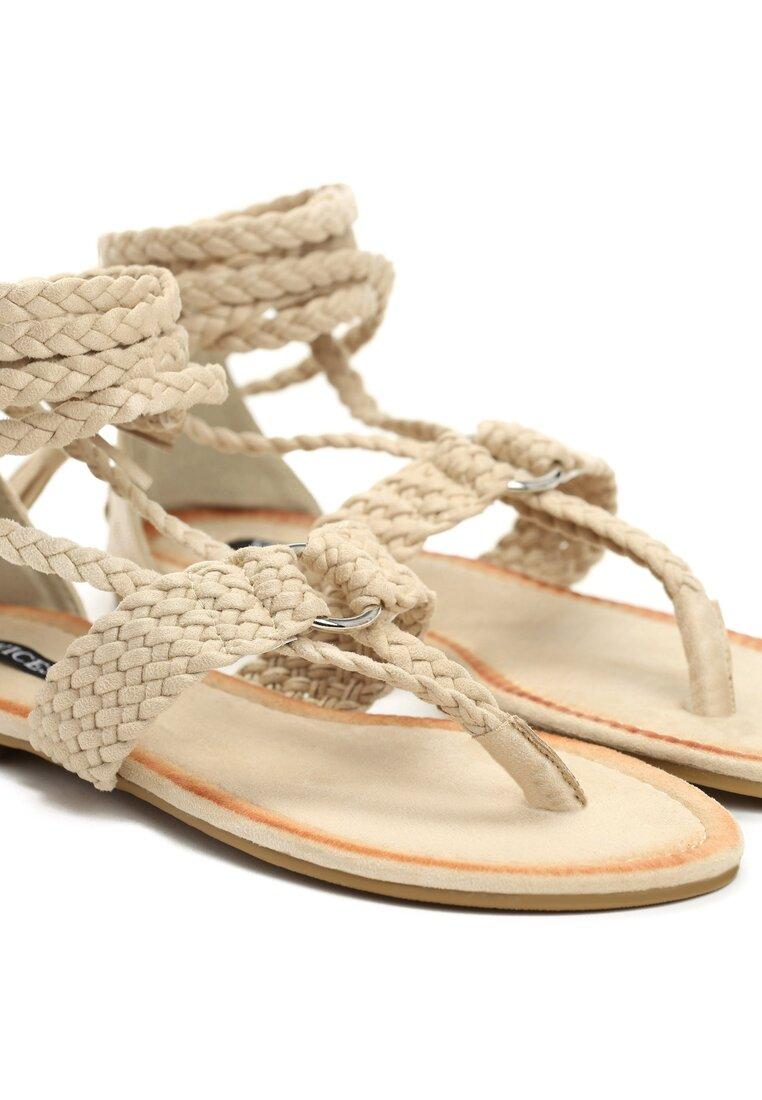 Beżowe Sandały King Lace