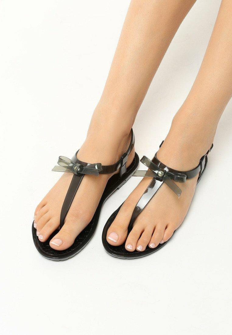 Czarne Sandały Key With Shoes