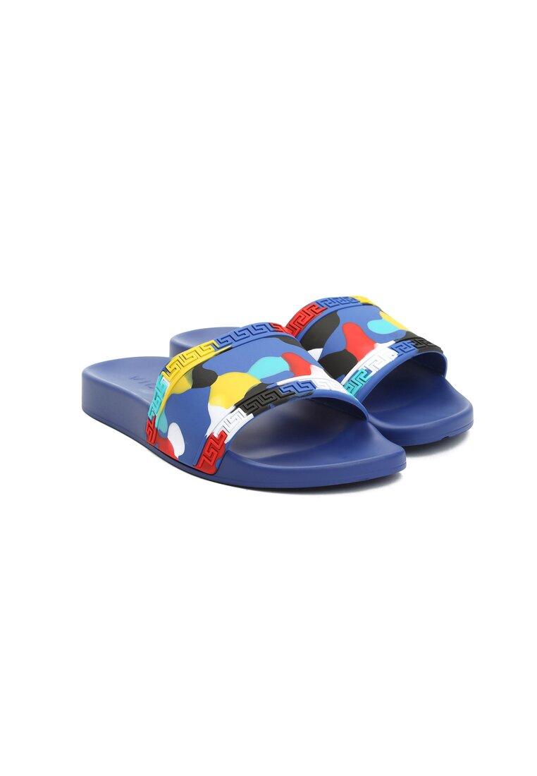 Niebieskie Klapki Colourful Dots