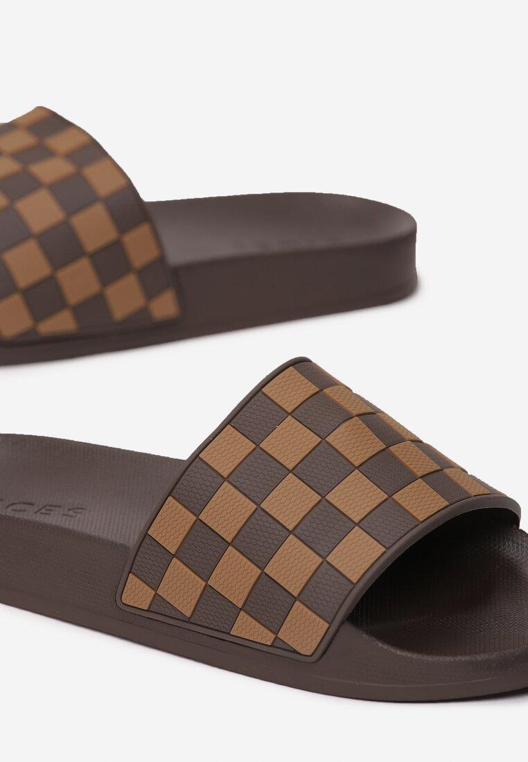 Brązowe Klapki Chessboard