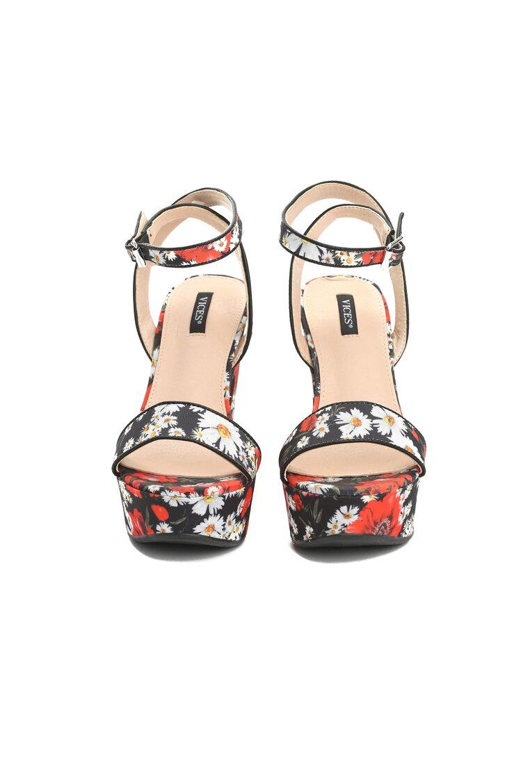 Czarne Sandały Poppies