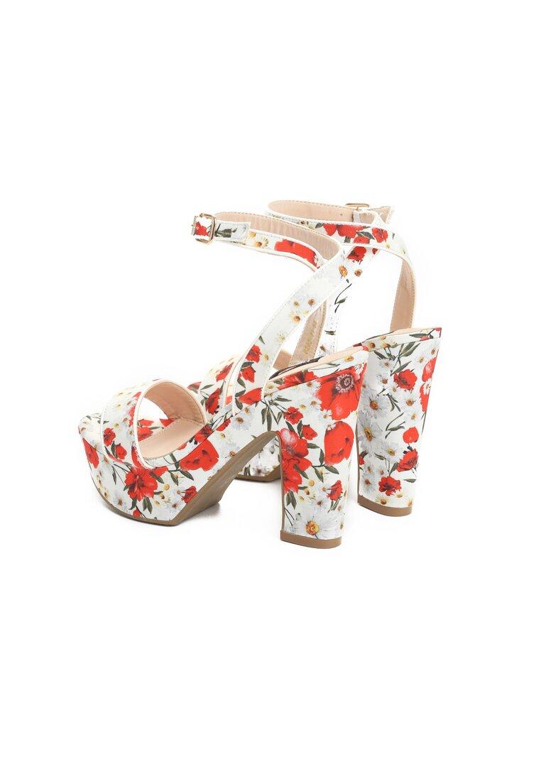 Białe Sandały Poppies