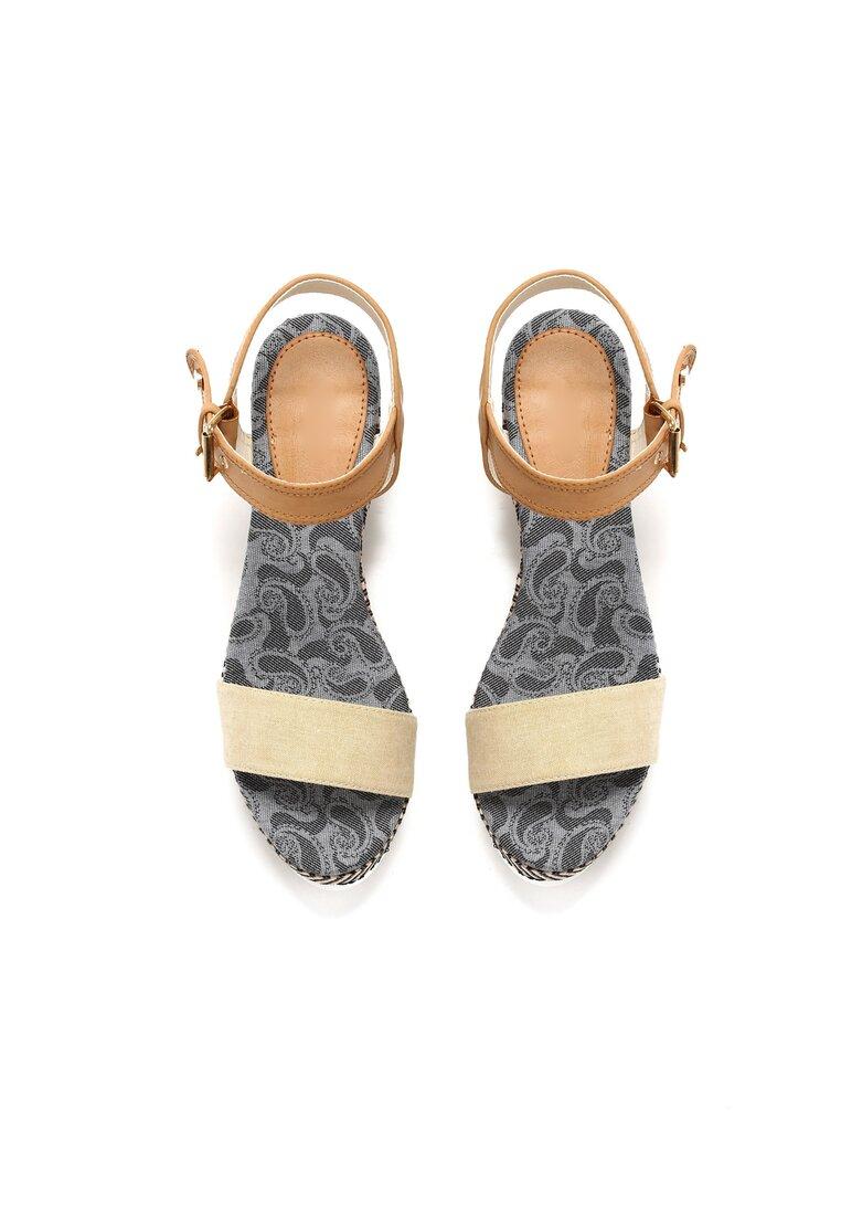 Beżowe Sandały Chunk