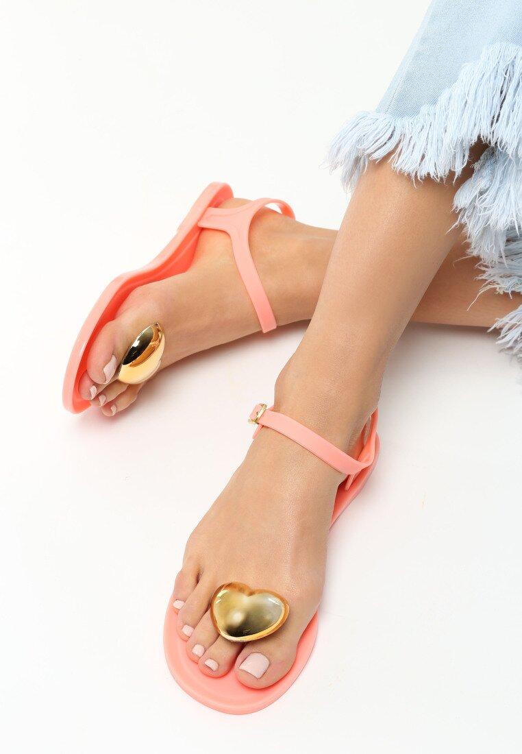 Pomarańczowe Sandały Twinkle