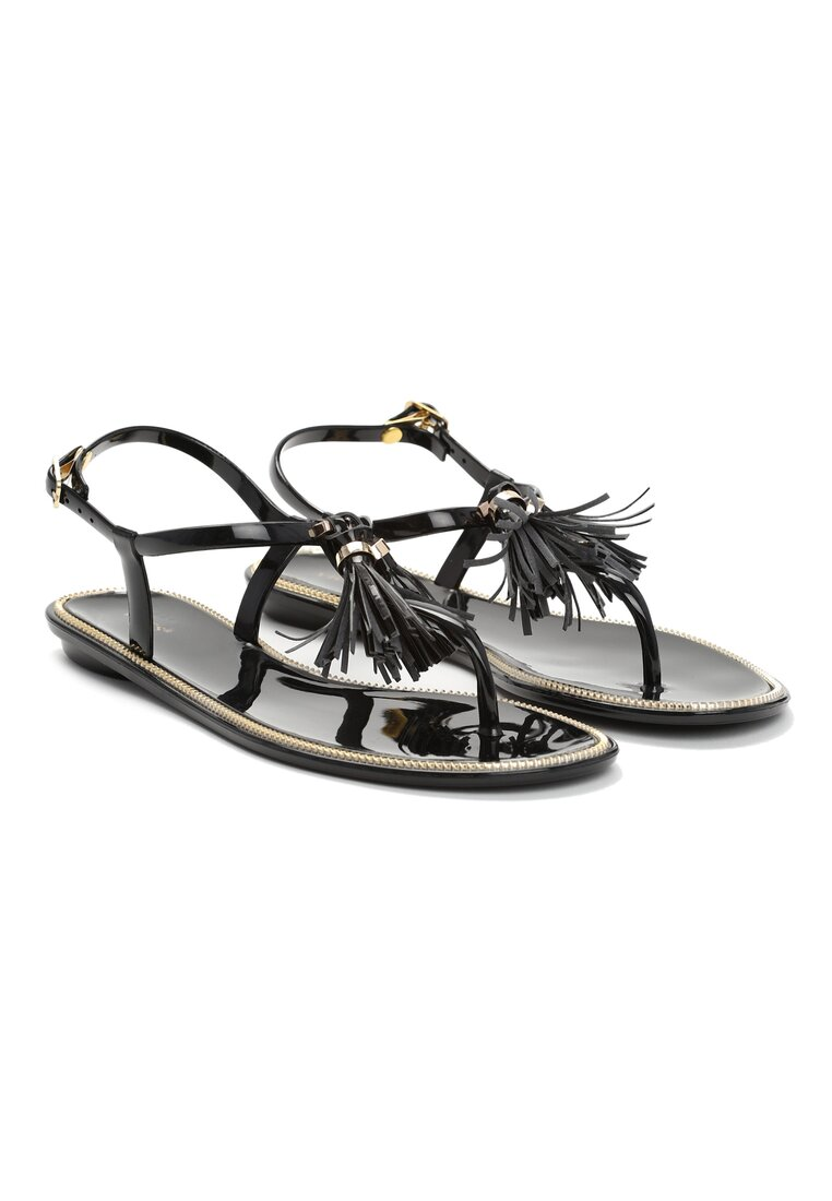 Czarne Sandały Whiplash