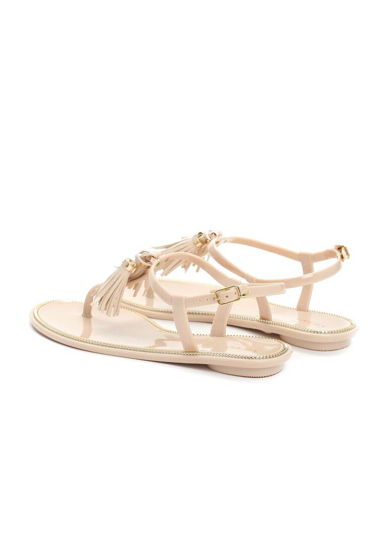 Beżowe Sandały Whiplash