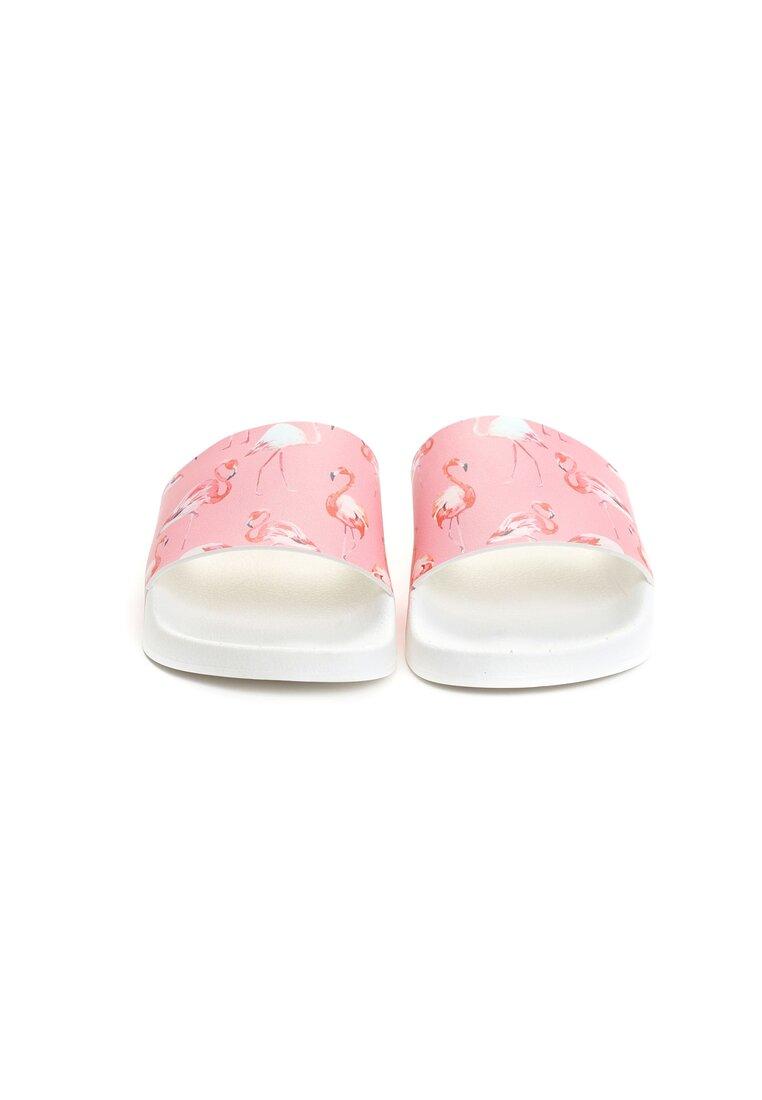 Biało-Różowe Klapki Eudaimonia