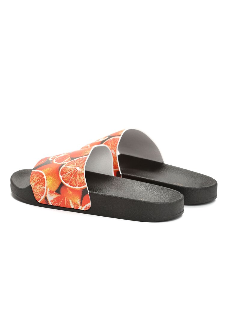 Czarne Klapki Sweet Oranges