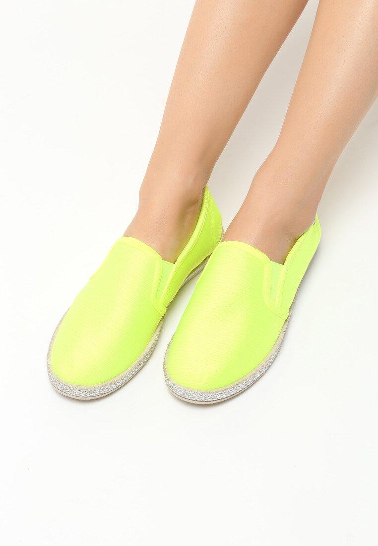 Limonkowe Neonowe Tenisówki Fleur De Lis