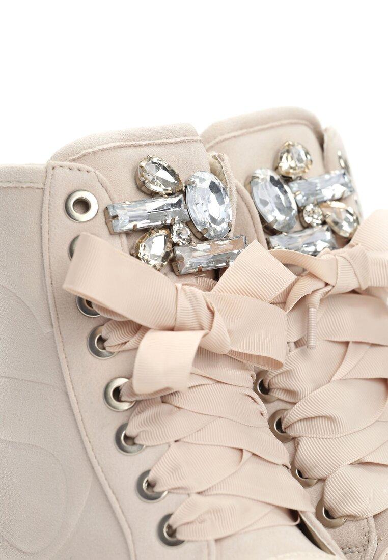 Beżowe Sneakersy Amor