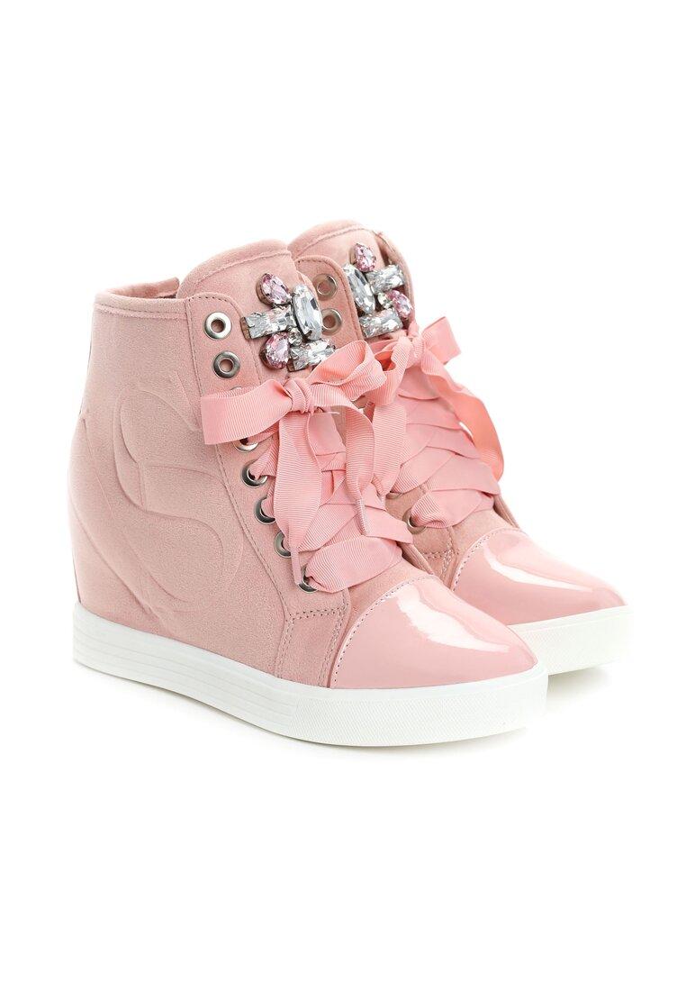 Różowe Sneakersy Kassi