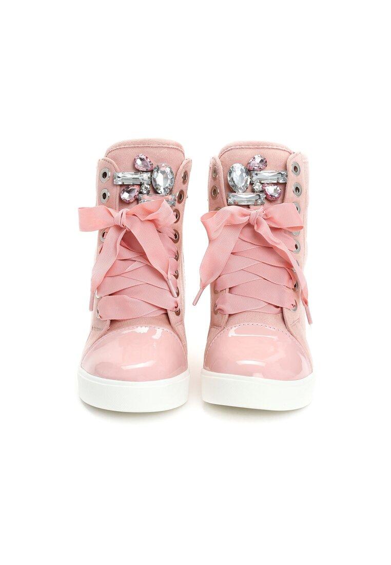 Różowe Sneakersy Amor
