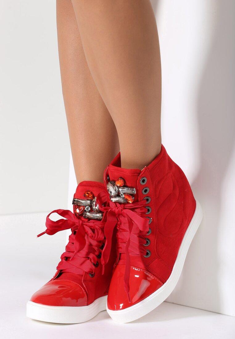 Czerwone Sneakersy Kassi